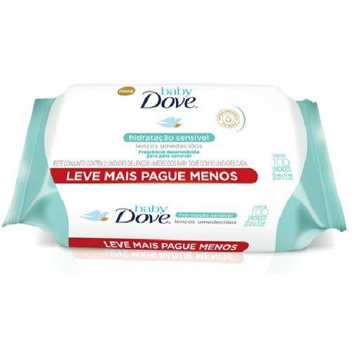 Lenço Umedecido Baby Hidratacao Sensivel - 100 Unidades Dove
