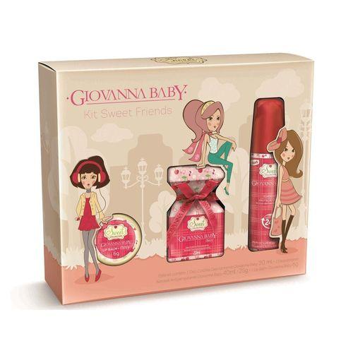 Kit Giovanna Baby Sweet Cherry Friends Colônia + Desodorante + Lip Balm