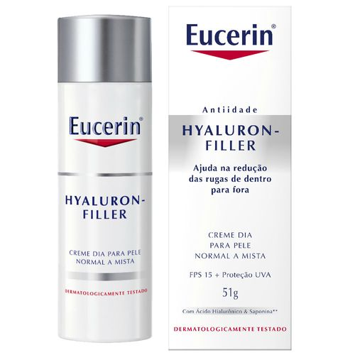 Creme Anti - idade Facial Eucerin Hyaluron - Filler Dia FPS 15 51g