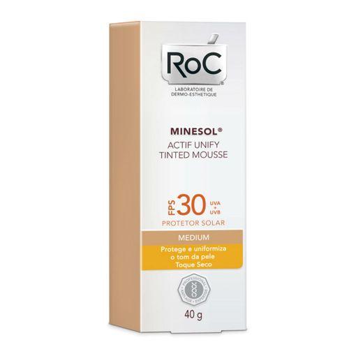 Protetor-Solar-Roc-Minesol-Actif-Mousse-Medium-FPS30-40g-Drogaria-SP-558745