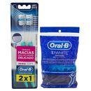 Kit-Oral-B-2-Escovas-Indicator-Sensi-Soft-Fio-Dental-Flexivel-Hastes-75-Unidades-Drogaria-SP-9000967