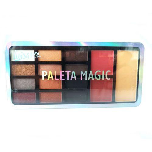 Paleta Magic De Luisance Sombra Matte Perolada Blush E Pó (B) 1 unid