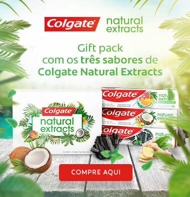 Creme dental Colgate natural extracts pack com três sabores