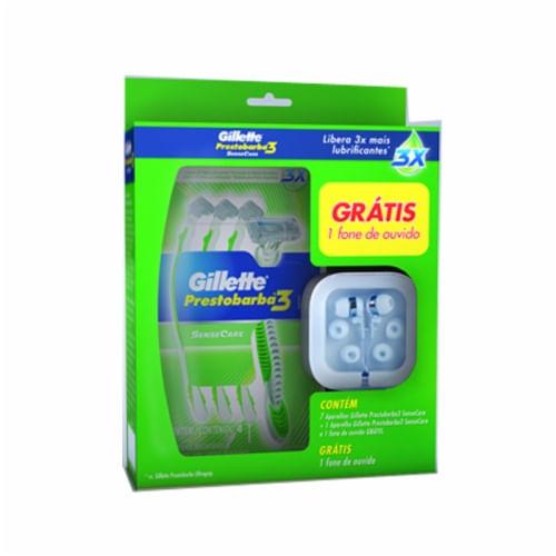 Kit-Aparelho-de-Barbear-Prestobarba-3-Gillette-SenseCare-8-Unidades-Gratis-Fone-de-Ouvido