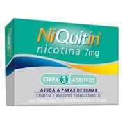 Niquitin 7mg GSK 7 Adesivos Transdérmicos