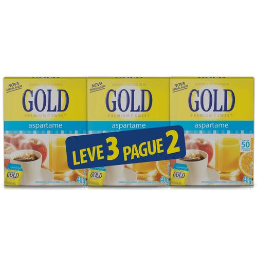 Adoçante em Pó Gold 50 Envelopes Leve 3 e Pague 2