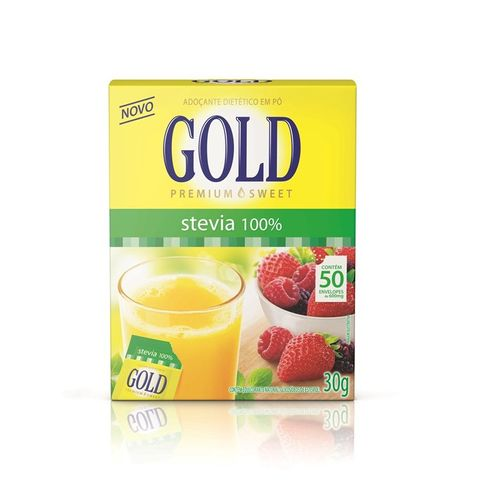 Gold Stevia 50 sachês 0,6g