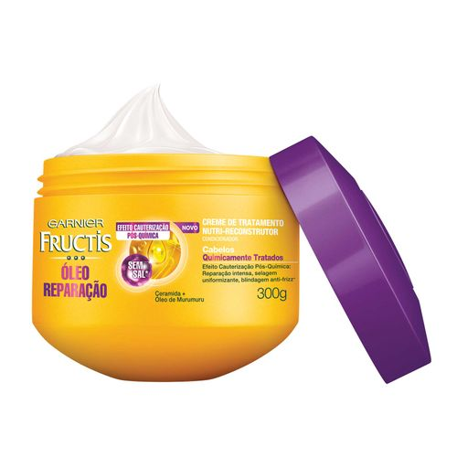 Creme Tratamento Fructis Reparador Pós Química 300g