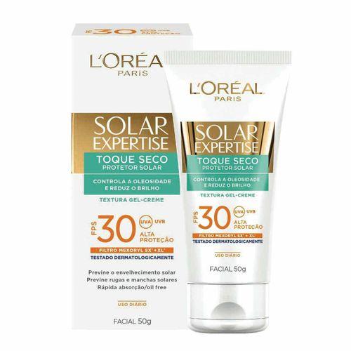 Protetor Solar L'Oréal Facial Expertise Toque Seco FPS 30 50g
