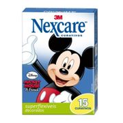 Curativo Superflexível Nexcare 3M Mickey 15 unidades