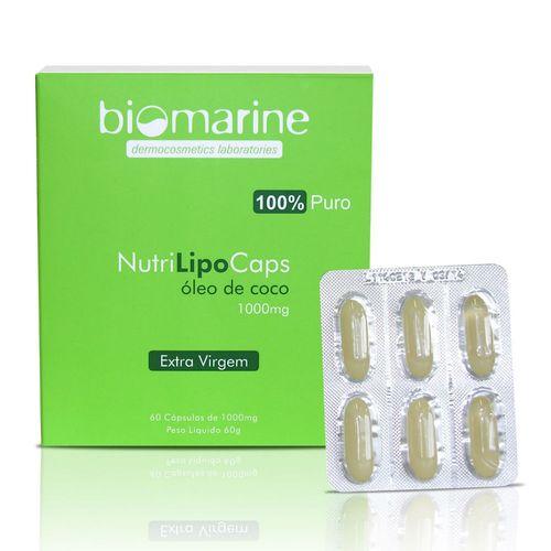 oleo-de-Coco-1000mg-Biomarine-Nutrilipo-60-Capsulas-391387