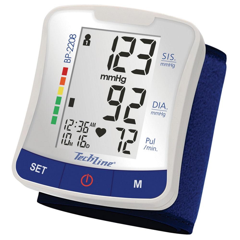b32d8209f Monitor de Pressão Arterial Techline Digital Automático de Pulso BP-2208 -  Drogaria Sao Paulo
