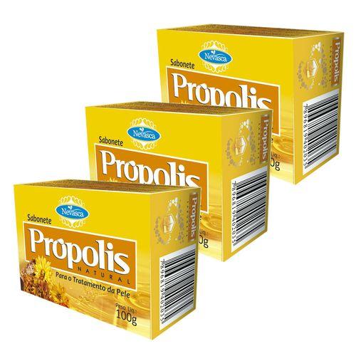 Kit-Sabonete-Nevasca-Natural-Propolis-100g-3-Unidades-Drogaria-SP-342726