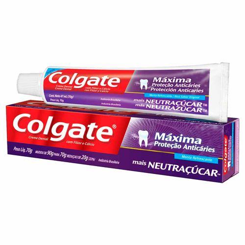 Creme-Dental-Colgate-Maxima-Protecao-Anticarie-Neutracucar-70g