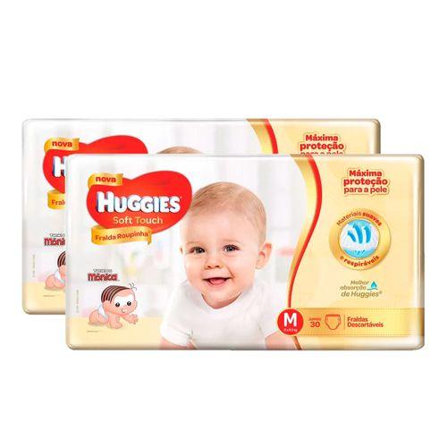 Kit-2-Fraldas-Descartaveis-Huggies-Soft-Touch-Jumbo-M-Drogaria-SP-9032004