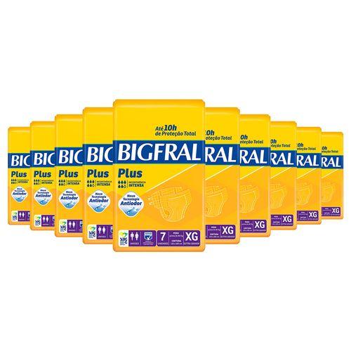 Kit-10-Fralda-Geriatrica-Bigfral-Plus-XG-70-Tiras-Drogaria-SP-9033017