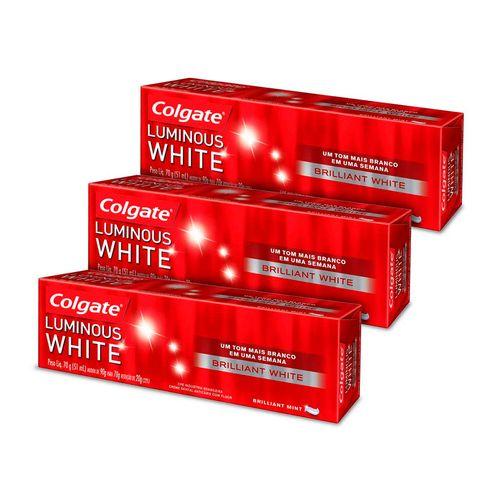 Kit-3-Creme-Dental-Colgate-Luminous-White-70g-Drogaria-SP-9035262