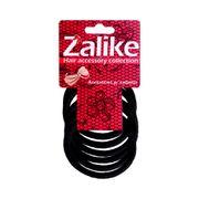 elastico-para-cabelos-preto-sem-metal-zalike-com-6-unidades-Drogaria-SP-632805