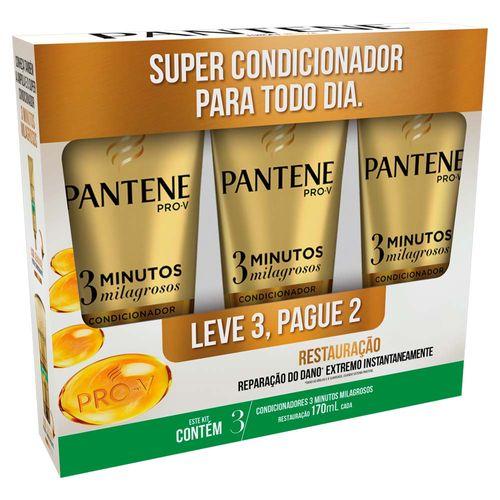 kit-pantene-3-minutos-milagrosos-restauracao-condicionador-170ml-3-unidades-Drogaria-SP-663476