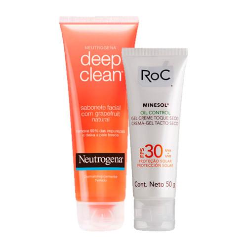 Kit-Protetor-Solar-Roc-Minesol-Oil-Control-FPS-30-50g-Ganhe-Sabonete-Facial-Neutrogena-Deep-Clean-80g-Drogaria-SP-9137372