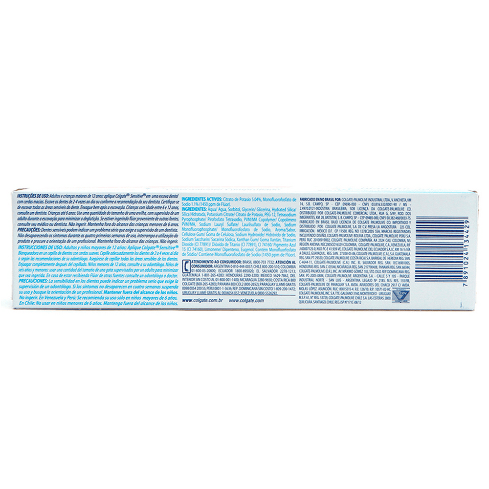 Creme Dental Colgate Sensitive Branqueador 100g Drogaria Sao Paulo