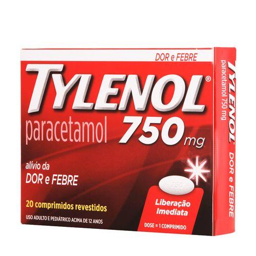 Tylenol-750Mg-20-Comprimidos-Drogaria-SP-19119