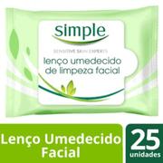 Lenço Umedecido Simple Limpeza Facial 25 Unidades - 640514_1
