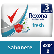 Kit Sabonete em Barra Rexona Antibacterial Fresh 84g 3 Unidades - 634425_1