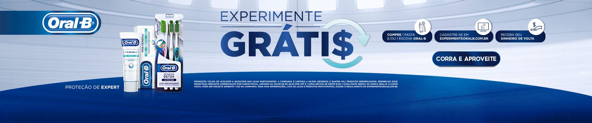 ORAL B EXPERIMENTE GRÁTIS