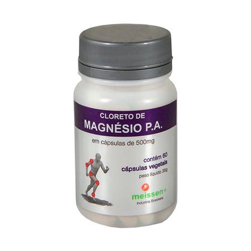3750c56f4 Cloreto De Magnésio P.A - Meissen - 60 Cápsulas de 500mg - Drogaria ...