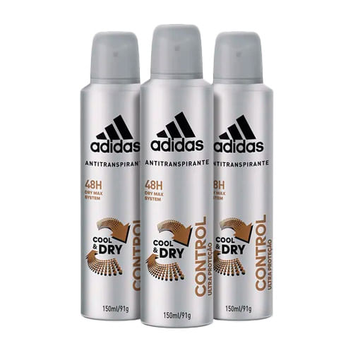 Kit-Desodorante-Adidas-Aerosol-Masculino-Control-150ml-3-Unidades-Drogaria-SP-9150447