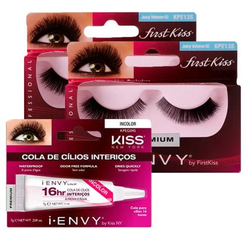 Kit-Kiss-Cilios-Posticos-First-Juicy-Volume-02-2-Unidades---Cola-Para-Cilios-New-York-16-Horas-Incolor-Drogaria-SP-9045602