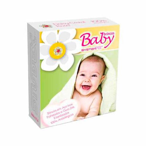 brinco-studex-baby-daisy-cristal-rose-1-par-Drogaria-SP-680907