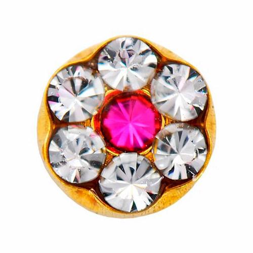 brinco-studex-daisy-cristal-rose-ouro-1-par-Drogaria-SP-680923
