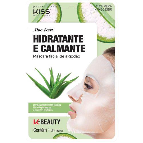 Mascara-Facial-Hidratante-e-Calmante-Kiss-New-York-Aloe-Vera-10g-Drogaria-SP-683426