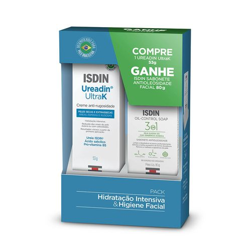Kit-Isdin-Creme-Anti-Rugosidade-Ureadin-UltraK-53g-Sabonete-em-Barra-Oil-Control-Soap-3-em-1-80g-Drogaria-SP-715352