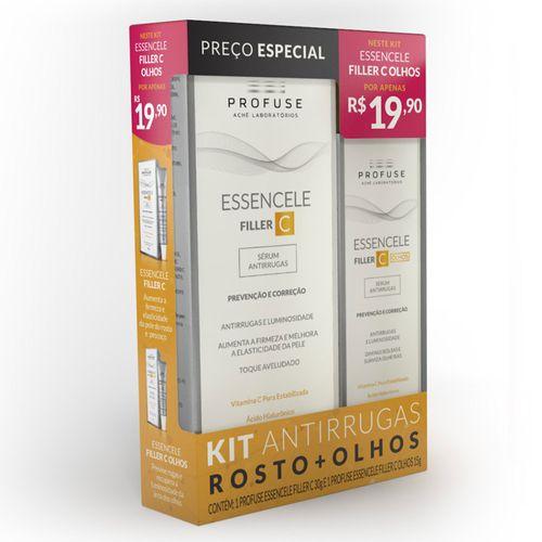 Kit-Profuse-Essencele-Filler-C-Serum-Antirrugas-Rosto-30g--Olhos-15g-Drogaria-SP-716324