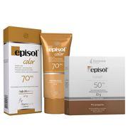 Kit-Episol-Color-Pele-Morena-Po-Compacto-FPS50-10g--Protetor-Solar-facial-FPS70-40g-Drogaria-SP-935127374