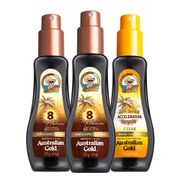 Kit-Australian-Gold-Spray-Protetor-Solar-Corporal-FPS8-125ml-2-Unidades--Bronzeador-Dark-Tanninml-Accelerator-Gel-Clear-125ml-Drogaria-SP-935127388