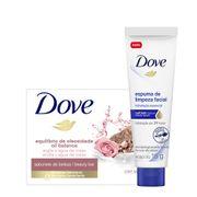 Kit-Dove-Sabonete-em-Barra-Hidratacao-Argila-e-agua-De-Rosas-90g--Espuma-De-Limpeza-Facial-Hidratacao-Essencial-15g-Drogaria-SP-935127438