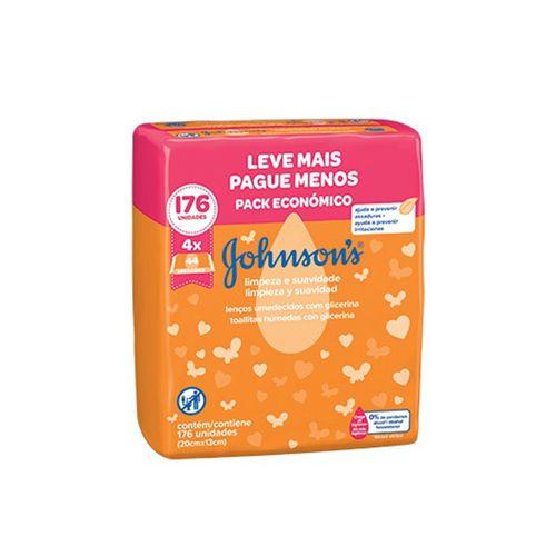lenco-umedecido-com-glicerina-johnson--s-limpeza-e-suavidade-176-unidades-Drogaria-SP-683760-1