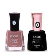Kit-Risque-Diamond-Gel-Esmalte-Top-Coat-Fixador-9-5ml---Esmalte-Espumante-Rose-9-5ml-Drogaria-SP-935127540