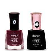 Kit-Risque-Diamond-Gel-Esmalte-Top-Coat-Fixador-9-5ml---Esmalte-Amora-Negra-9-5ml-Drogaria-SP-935127549