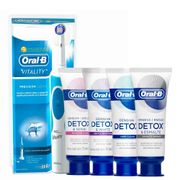 Kit-Oral-B-Escova-Dental-Eletrica-D12-Vitality-110-volts-Gengiva-Detox-102g-Gentle-Whitening-102g-Deep-Clean-102g-Esmalte-Repair-102g-Drogaria-SP-935127607