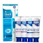 Kit-Oral-B-Escova-Dental-Eletrica-D12-Vitality-220v-Sensitive-Care-102g---Creme-Dental-Gentle-Whitening-102g-Deep-Clean-102g-Esmalte-Repair-102g-Drogaria-SP-935127608