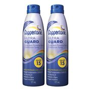Kit Protetor Solar Coppertone Ultraguard Spray FPS 15 177ml 2 Unidades
