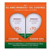 Kit Roc Minesol Protetor Solar Facial Oil Control Toque Seco FPS 70 50g 2 Unidades