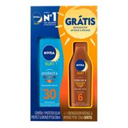 Kit Protetor Solar Corporal Nivea Protect e Bronze FPS30 200ml + Intensive Bronze FPS6 125ml