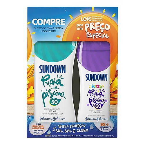 Kit Protetor Solar Corporal Sundown FPS50 200ml + Kids FPS60 120ml