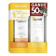 Kit Episol Protetor Solar Facial FPS45 + Protetor Solar Infantil FPS70 100g